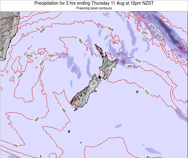 New Zealand Precipitation for 3 hrs ending Thursday 30 May at 12pm NZST