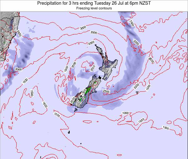 New Zealand Precipitation for 3 hrs ending Tuesday 21 May at 12pm NZST
