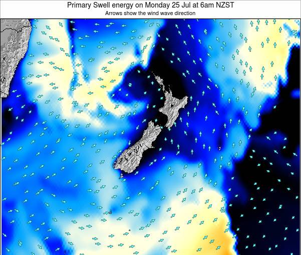 New Zealand Primary Swell energy on Sunday 21 Dec at 1am NZDT