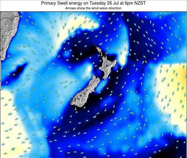 New Zealand Primary Swell energy on Wednesday 23 Apr at 12am NZST