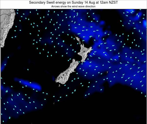 New Zealand Secondary Swell energy on Wednesday 30 Apr at 12pm NZST