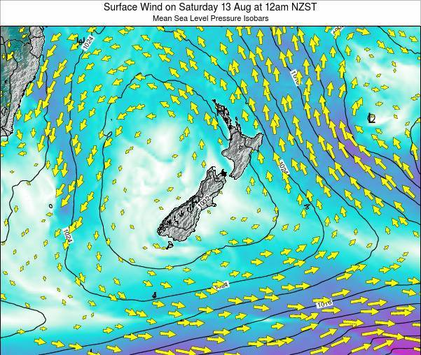 New Zealand Surface Wind on Friday 31 May at 12pm NZST