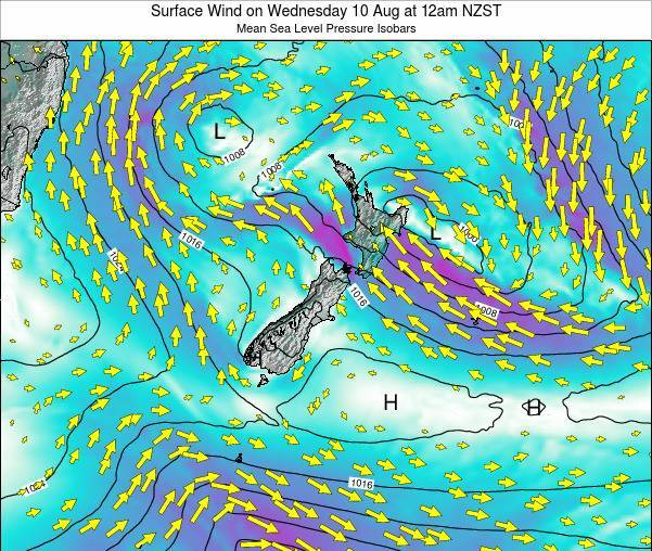 New Zealand Surface Wind on Sunday 26 May at 6am NZST
