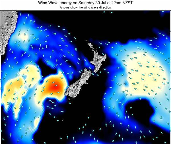 New Zealand Wind Wave energy on Friday 31 May at 6am NZST