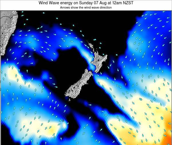 New Zealand Wind Wave energy on Tuesday 21 May at 6am NZST