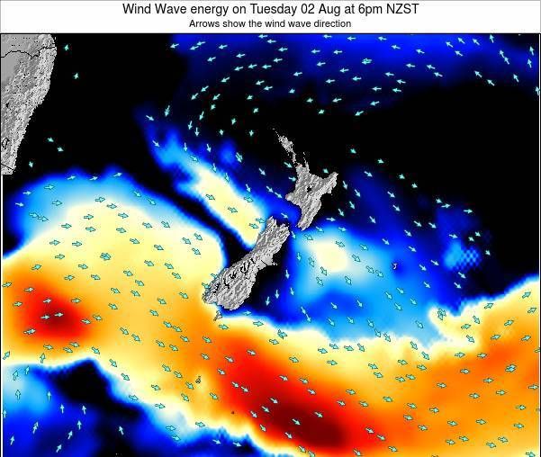 New Zealand Wind Wave energy on Sunday 26 May at 12pm NZST
