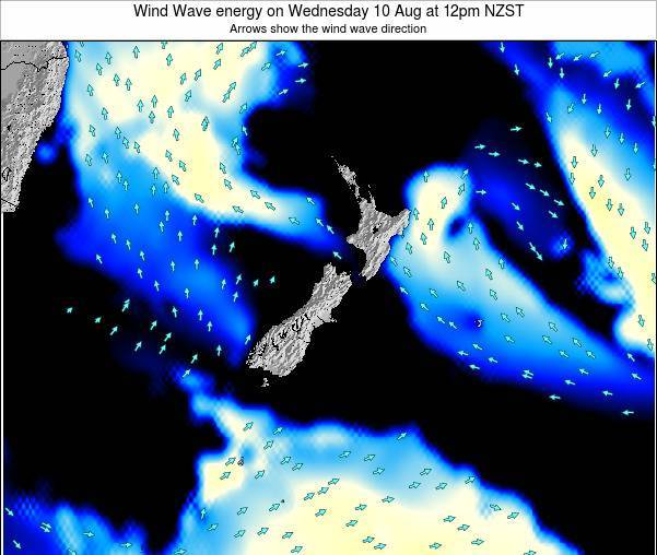 New Zealand Wind Wave energy on Friday 24 May at 12am NZST