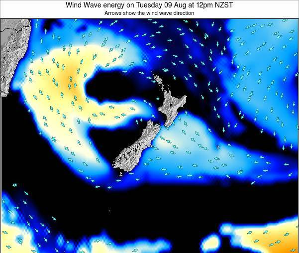 New Zealand Wind Wave energy on Monday 27 May at 6am NZST