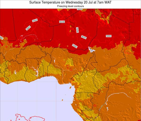 Nigeria Surface Temperature on Thursday 23 May at 1pm WAT