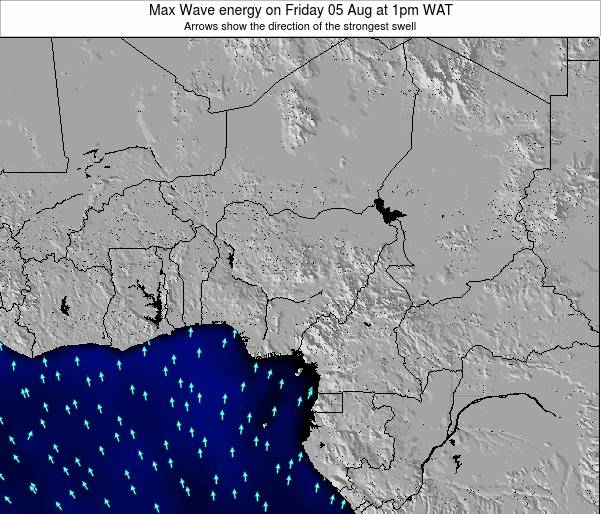 Nigeria Max Wave energy on Monday 20 Aug at 7pm WAT map