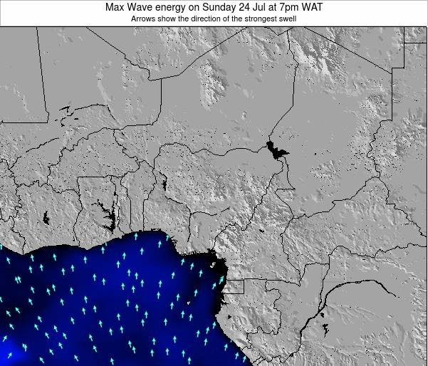 Nigeria Max Wave energy on Tuesday 20 Feb at 7pm WAT map