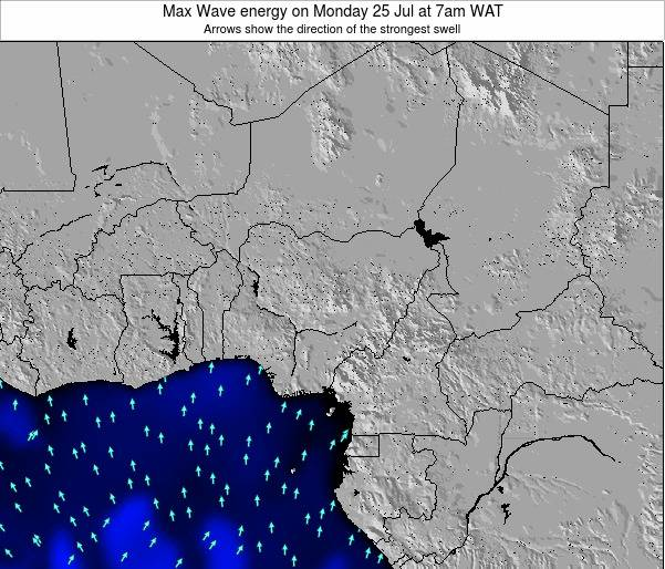 Nigeria Max Wave energy on Monday 24 Jul at 7pm WAT