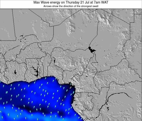 Nigeria Max Wave energy on Saturday 15 Mar at 7am WAT