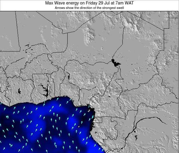 Nigeria Max Wave energy on Thursday 24 Apr at 7am WAT