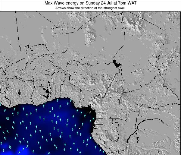 Nigeria Max Wave energy on Friday 27 Jul at 7pm WAT map