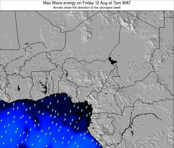 Nigeria Max Wave energy on Friday 25 Apr at 1am WAT
