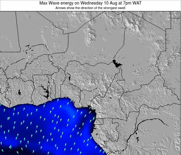Nigeria Max Wave energy on Sunday 29 Apr at 7pm WAT map