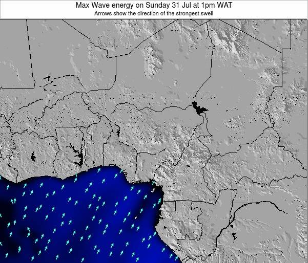 Nigeria Max Wave energy on Monday 06 Oct at 1pm WAT