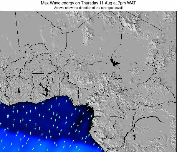 Nigeria Max Wave energy on Thursday 03 May at 1am WAT map