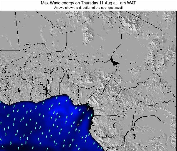 Nigeria Max Wave energy on Tuesday 05 Aug at 7am WAT