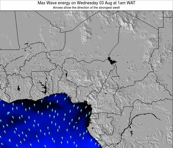 Nigeria Max Wave energy on Sunday 16 Dec at 7am WAT map