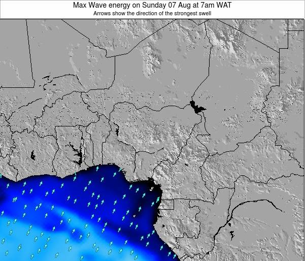 Nigeria Max Wave energy on Thursday 12 Dec at 7am WAT