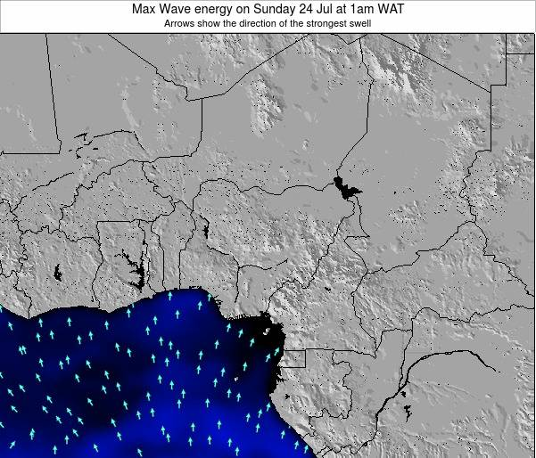 Nigeria Max Wave energy on Monday 05 Dec at 1pm WAT
