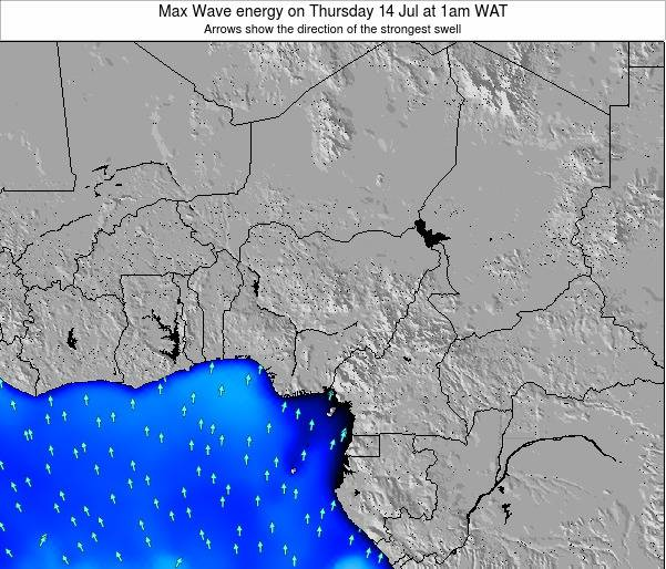 Nigeria Max Wave energy on Wednesday 23 Jul at 1pm WAT