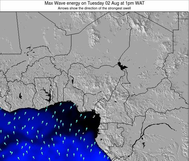Nigeria Max Wave energy on Friday 14 Dec at 1pm WAT map