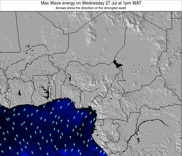 Nigeria Max Wave energy on Friday 27 Apr at 7am WAT map