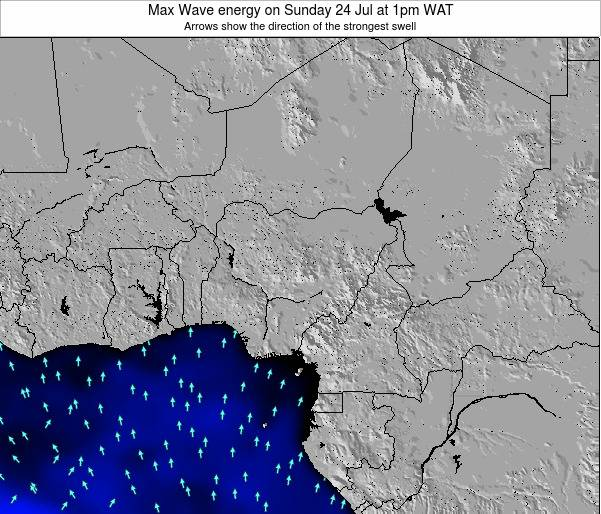 Nigeria Max Wave energy on Wednesday 30 Jul at 7am WAT