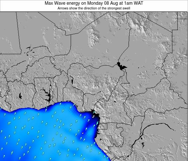 Nigeria Max Wave energy on Wednesday 12 Mar at 7am WAT