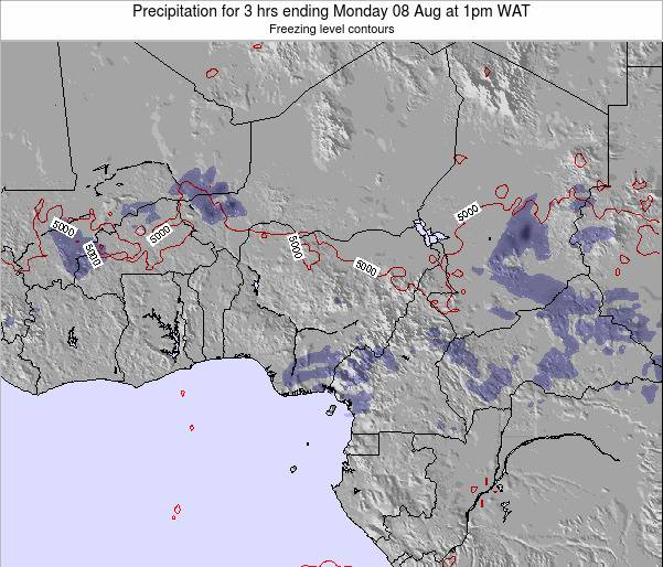 Chad Precipitation for 3 hrs ending Monday 27 May at 1am WAT map
