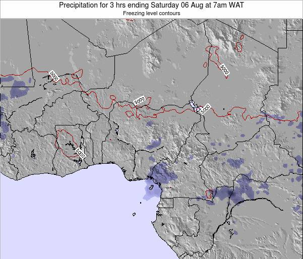 Chad Precipitation for 3 hrs ending Friday 24 May at 7pm WAT map