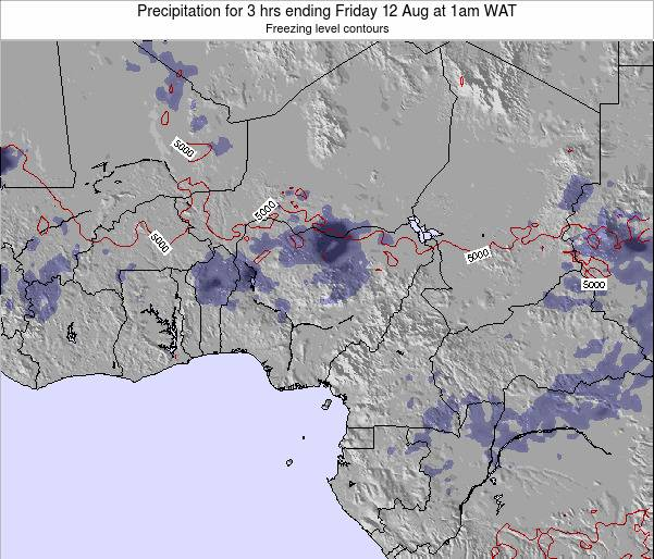 Niger Precipitation for 3 hrs ending Friday 24 May at 7am WAT map