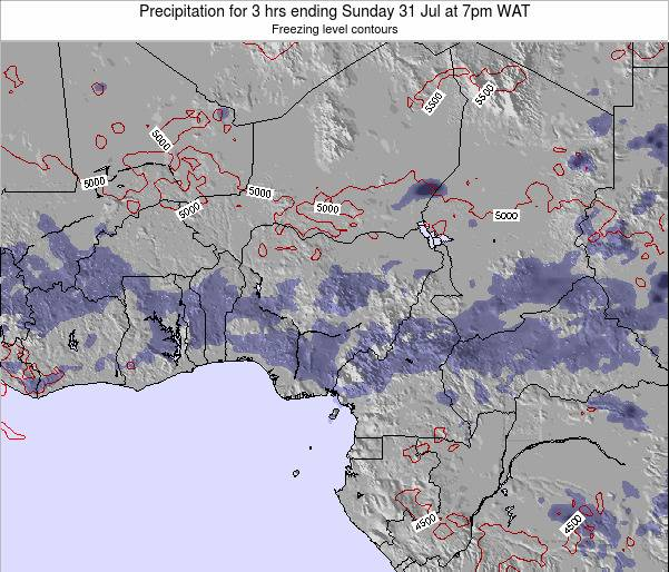 Chad Precipitation for 3 hrs ending Friday 31 May at 1pm WAT map