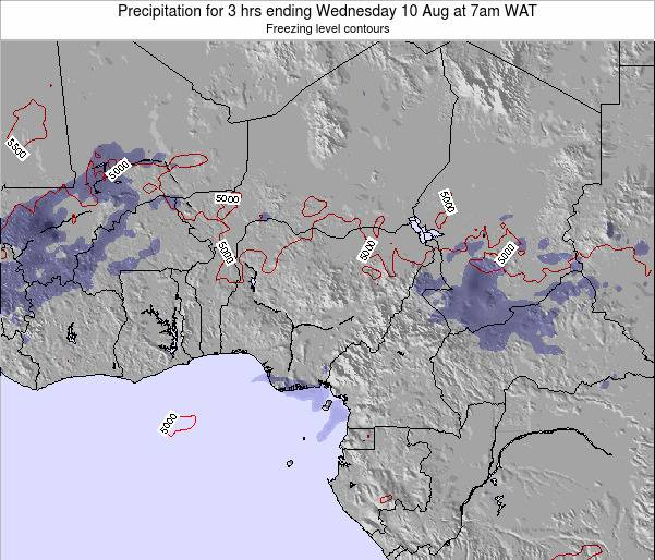 Niger Precipitation for 3 hrs ending Monday 27 May at 1am WAT map