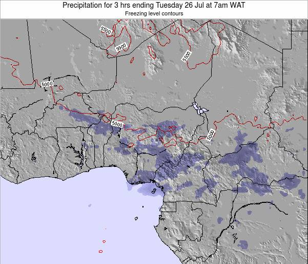Niger Precipitation for 3 hrs ending Sunday 26 May at 7am WAT map
