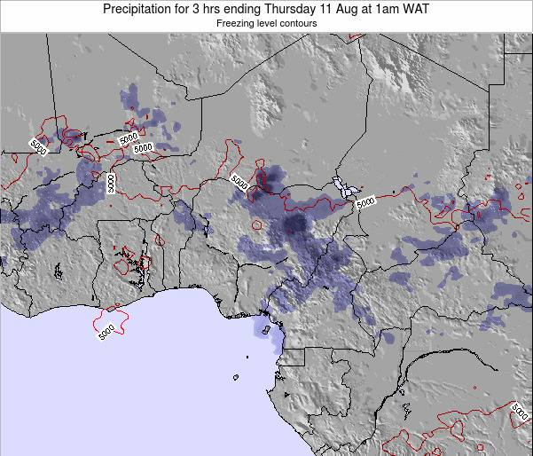 Chad Precipitation for 3 hrs ending Thursday 23 May at 1pm WAT map