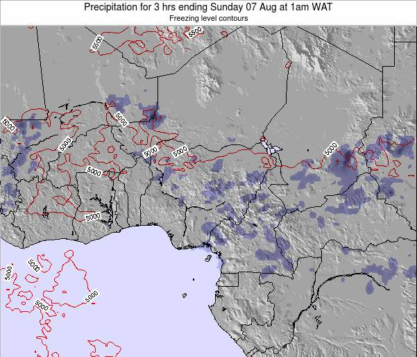 Nigeria Precipitation for 3 hrs ending Saturday 25 May at 7pm WAT