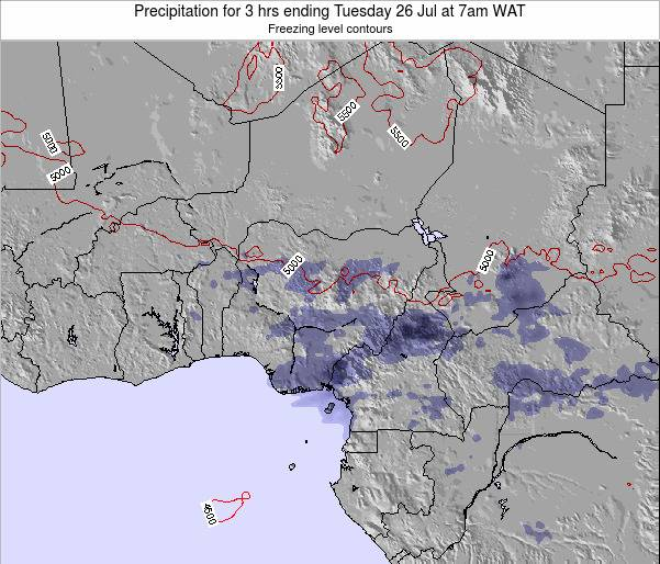 Nigeria Precipitation for 3 hrs ending Sunday 08 Dec at 7am WAT
