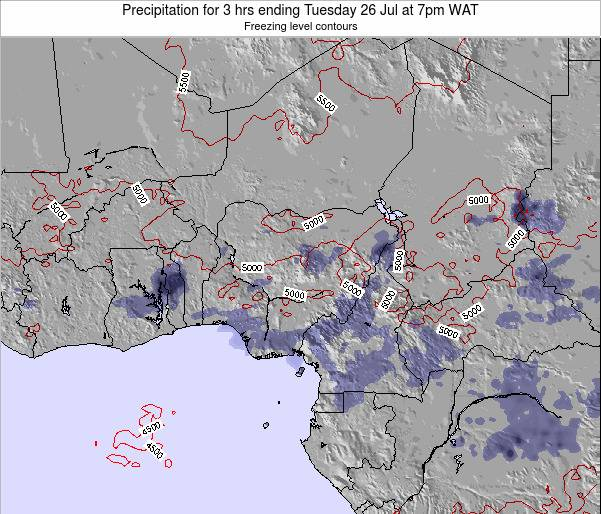 Nigeria Precipitation for 3 hrs ending Friday 25 Jul at 1am WAT