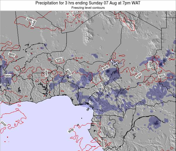 Nigeria Precipitation for 3 hrs ending Friday 14 Mar at 1am WAT