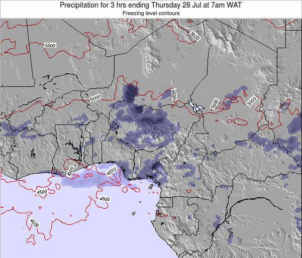 Nigeria Precipitation for 3 hrs ending Saturday 23 Sep at 1am WAT