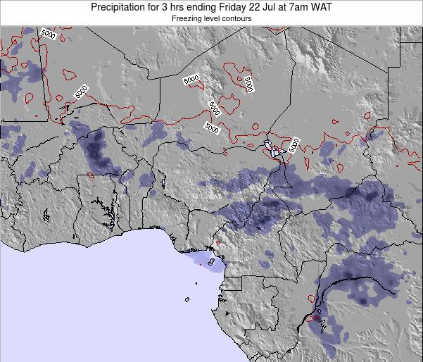 Nigeria Precipitation for 3 hrs ending Thursday 13 Mar at 1pm WAT