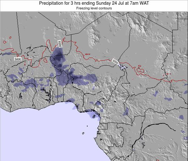 Chad Precipitation for 3 hrs ending Wednesday 22 May at 1am WAT map