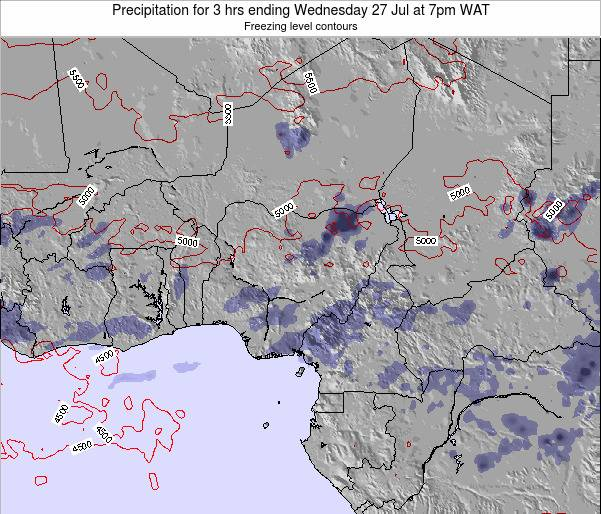 Nigeria Precipitation for 3 hrs ending Sunday 30 Nov at 1pm WAT