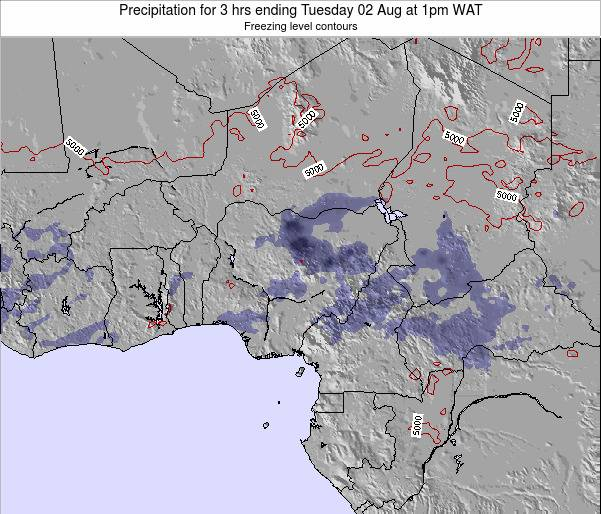 Nigeria Precipitation for 3 hrs ending Sunday 15 Dec at 1pm WAT