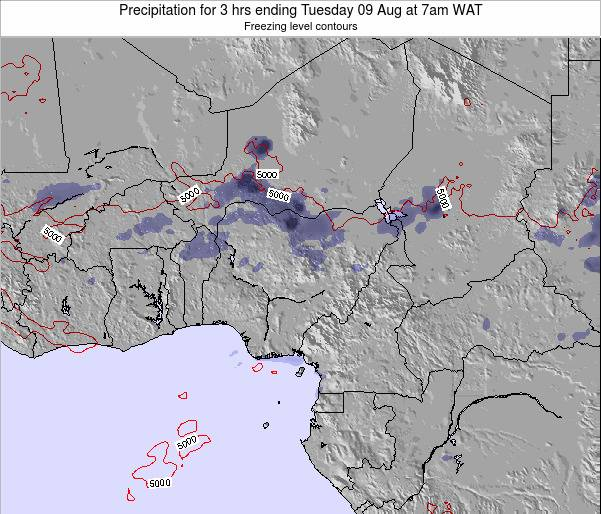 Nigeria Precipitation for 3 hrs ending Saturday 23 Aug at 7am WAT