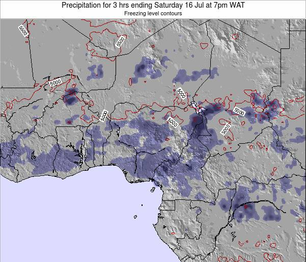 Niger Precipitation for 3 hrs ending Saturday 22 Jun at 7am WAT map